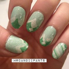 Pastel Christmas tree nails by Mr. Candiipants