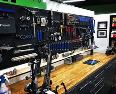 Top 80 Best Tool Storage Ideas - Organized Garage Designs From power to hand tools and beyond, discover the top 80 best tool storage ideas. Explore cool organized garage and workshop designs. Storage Shed Organization, Garage Tool Storage, Garage Tool Organization, Workshop Storage, Garage Tools, Storage Ideas, Garage Velo, Motorcycle Garage, Garage Workshop Plans