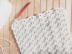 The Blanket Shrug - Free Crochet Pattern - Jewels and Jones Crochet Throw Pattern, Crochet Pillow Patterns Free, Easy Crochet Blanket, Shrug Pattern, Free Pattern, Crochet Scarf For Beginners, Beginner Crochet, Basic Crochet Stitches, Crochet Basics