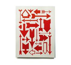 Eames Arrows: Serigraph. #Eames_Arrows