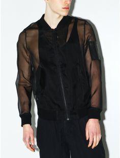 BLK DNM jacket 54... Chiffon track jacket