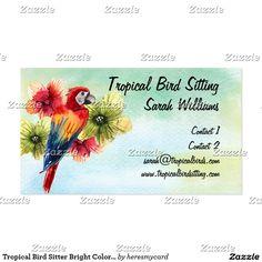 Tropical Bird Sitter Bright Colored Parrot Business Card http://www.zazzle.com/pd/spp/pt-zazzle_profilecard?dz=74502e68-596f-4206-aa56-3f129ab75786&clone=true&pending=true&size=business&media=thick_plainwhite&cornerstyle=normal&design.areas=%5Bbusiness_front_horz%5D&view=113405369407848596&CMPN=shareicon&lang=en&social=true&rf=238588924226571373