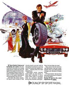 Vintage Illustrated Dunlop Radial Tire Tyre Advert  ::::::::::::::::::::::::::::::::::::::::::::::::::::::::::::::::::::::: My ETSY Shop: https://www.etsy.com/ie/shop/AncientPastArt?ref=l2-shopheader-name