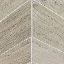 Tennessee Taupe Chevron Polished Marble Tile