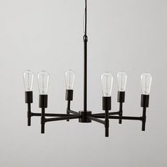 $249, Industrial Chandelier, West Elm - We could add an industrial flair to your room!