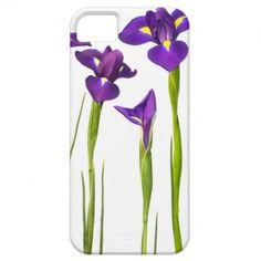 Purple Irises - Iris Flower Customized Template iPhone 5 Cover