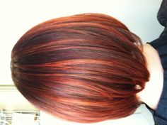 Red and copper highlights / haircolor