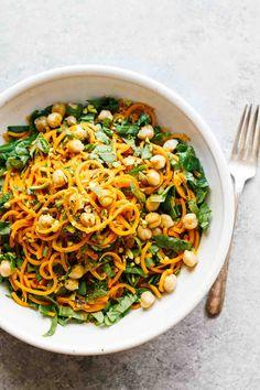 Turmeric Sweet Potato Pasta Salad! Vegan, vegetarian, gluten-free, super easy to make!