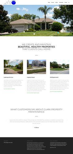 WordPress site clarkpropertymaintenance.com uses the Tempera wordpress template