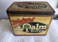 """Large """"PALM TOFFEE """" tin"""