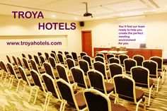  www.hoteltroya.com ✉ guest@hoteltroya.com   +90 212 251 8206  Hotel`s meeting room has a seating capacity of 50 people in theater-layout, and is convenient for all kind of business meetings, seminars, conferences, and receptions. The room is equipped with the latest technologies such as a smart board, sound system and high-speed wi-fi. Seating Capacity, Business Meeting, Hotel S, Latest Technology, Receptions, High Speed, Wi Fi, Theater, Layout
