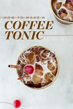 How to Make a Coffee Tonic #coffee #coffeetonic #tonic #iced #cherry