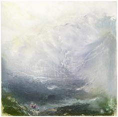 Tuomo Saali, Light of Rain, oil on canvas, 2017, 73x73cm