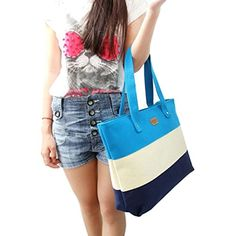 New Trending Shopper Bags: Ammazona Women Canvas Handbags Shoulder Messenger Bags (Blue ). Ammazona Women Canvas Handbags Shoulder Messenger Bags (Blue )   Special Offer: $5.89      133 Reviews Package Include: 1PC New Women Casual Bag(without retail package)100% brand new and high quality.Professional and exquisite craftsmanship, fashion appearance.Material: CanvasSize:...