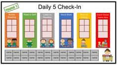 "FREE!! Use this for your kids to choose their Daily 5 centers for the day. This file is an editable powerpoint file.... There are 15 slides for 5 rotations (I usually only do 2-3 rotations per day.) The first 5 slides are the typical 5 centers. Slides 6-10 include a 6th Work with Teacher center. Slides 11-15 include an editable ""Choice"" center that you can name yourself."