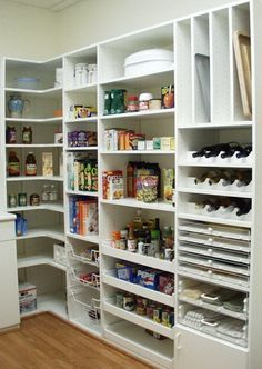 cool kitchen pantry design ideas modern house plans designs butler pantry laundry home design ideas renovations photos Pantry Room, Pantry Closet, Walk In Pantry, Pantry Shelving, Pantry Storage, Kitchen Storage, Corner Storage, Corner Shelf, Shelving Ideas