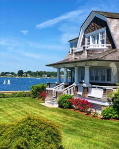 Summer in Stonington, CT — Kristy & New England Maine Beaches, England Beaches, New England Homes, New England Style, New England Cottage, Kennebunkport Maine, Cottage House Plans, Beach Cottages, Tiny Cottages