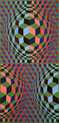 Untitled print by Vasarely, beautiful colours
