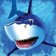 Chop-chop before the shark goes chomp-chomp! The Shark Splash Lunch Napkin features a great white rushing your way through the ocean, teeth first. Each lunch napkin m Splash Party, Halloween Costume Shop, Halloween Costumes For Kids, Shark Party Supplies, Party Napkins, Boy Birthday Parties, Birthday Lunch, 5th Birthday, Birthday Ideas