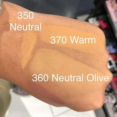 @fentybeauty #ProFiltr Foundation swatches. Saw it in store might have bought 370 too dark.