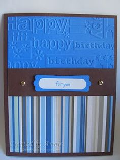 Stampin Up masculine birthday card