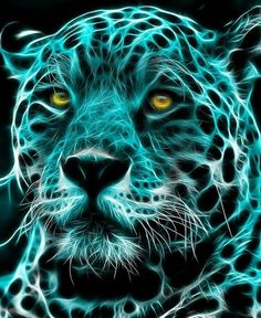 Mystical Animals Jaguar Wildlife Art Fractal Big Cats Cat