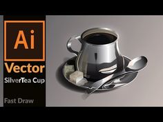 How to draw a Realistic Silver coffee cup in Adobe Illustrator - YouTube