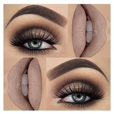 Get Ready For A Glamorous Night With These 15 Smokey Eye Makeup Ideas ❤ liked on Polyvore featuring beauty products, makeup, eye makeup and beauty