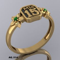 Anillos De Quince Años 15 Rings, Quince Invitations, Quinceanera Dresses, Quinceanera Ideas, Piercings, Engagement Rings, Bracelets, Womens Fashion, Gold