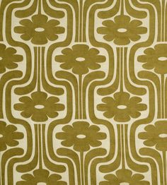 Woven Climbing Daisy - Yellow/Olive fabric, from the Orla Kiely Wovens Volume 1 collection by Ashley Wilde Retro Pattern, Pattern Art, Pattern Design, Pattern Fabric, Surface Pattern, Surface Design, Retro Wallpaper, Pattern Wallpaper, Iphone Wallpaper