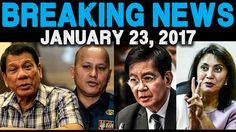 BREAKING NEWS TODAY JANUARY 23 2017 DUTERTE l GEN. BATO DELA ROSA l PING...