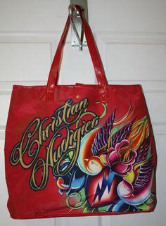 Womens Ladies Ed Hardy Christian Audigier Large Red Tote Bag Red Tote Bag, Christian Audigier, Reusable Tote Bags, Purses, Best Deals, Lady, Women, Fashion, Handbags