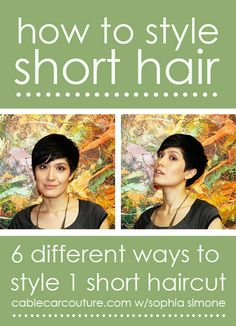 I'm always looking for hair tutorials! This links to a bunch for short hair!