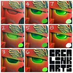 Painting Stache: Easy How To's: Painting Glowing Space Marine Eyes Tutorial  Fact: This is looks easy. It is easier if you are Painting with a Stache.  Eye painting Tutorials  http://true-grit-wargaming.blogspot.com/