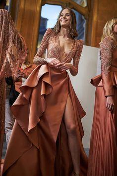 Home - Backstage Fashion Week Tan Dresses, Dressy Dresses, Bridal Dresses, Prom Dresses, Couture Dresses, Fashion Dresses, Fairytale Dress, Most Beautiful Dresses, The Dress