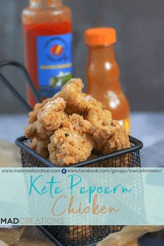 Keto Popcorn Chicken cooked 2 ways - Mad Creations Hub Chicken Cooking Times, Keto Chicken, Chicken Meals, Easy Keto Meal Plan, Low Carb Meal Plan, Low Carb Recipes, New Recipes, Favorite Recipes, Recipes Dinner