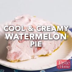Cool & Creamy Watermelon Pie Recipe