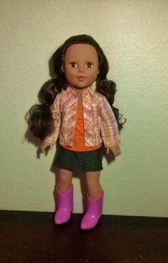 """Madame Alexander doll 18"""" brown eyes and brown hair"""