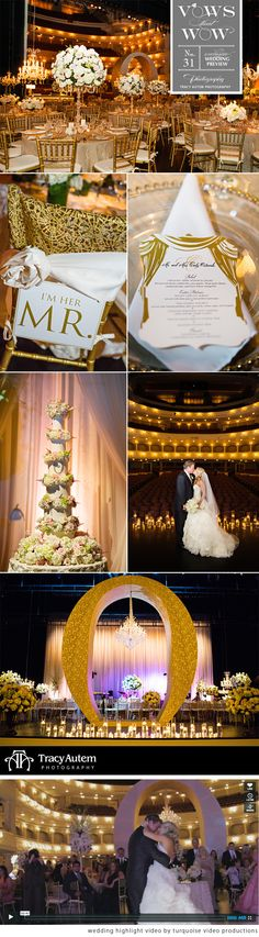 We can't get enough of this gorgeous wedding at Bass Performance Hall in Fort Worth!