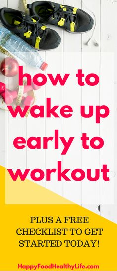 How to Wake Up Early to Work-Out