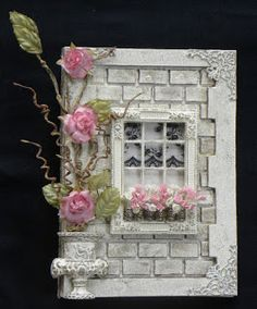 Resin frame used as window with brick textured surround
