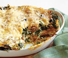 Skinny Holiday Recipes: Spinach Lasagna. #SkinnyHolidaySweeps