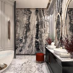 Interior Decorating Made Fun And Easy – Marble Bathroom Dreams Interior Design Colleges, Best Interior Design, Home Interior, Home Design, Interior Decorating, Design Room, Decorating Tips, Bathroom Design Luxury, Modern Bathroom