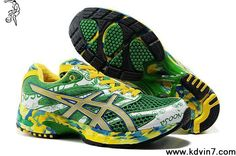 Asics Gel Noosa Tri 6 W Green/Yellow Mens Athletic Running Shoes Blue Basketball Shoes, Football Shoes, Nike Basketball, Sports Shoes, Nike Football, Kd 6 Shoes, Camo Shoes