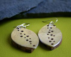 Wood and Silver Earrings by StaceyLeunesDesigns on Etsy, $85.00