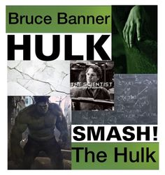 """""""Bruce Banner (The Hulk)"""" by rylock ❤ liked on Polyvore featuring Marvel"""