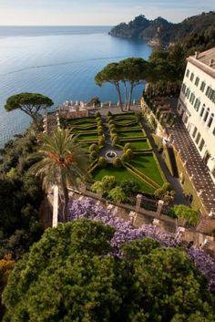 The Garden of Cervara Abbey in Liguria, Italy.