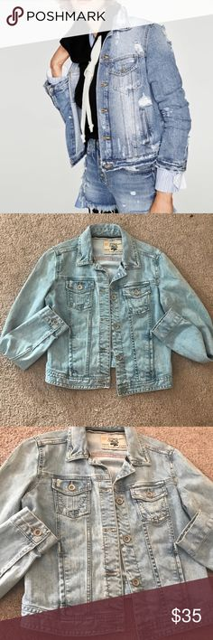 Zara Denim Jacket Excellent condition! Like new!!! No flaws or  extreme wear! Reasonable offers accepted! Zara Jackets & Coats