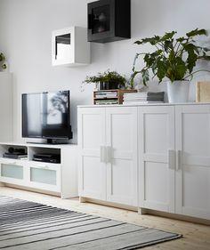 BRIMNES Cabinet with doors, white