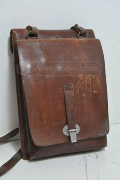 Vintage Leather German Military Map Case w/ Maps